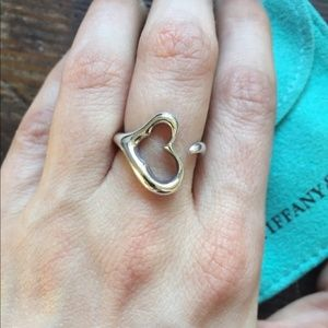 Tiffany & Co. Sterling Silver Open Heart Ring
